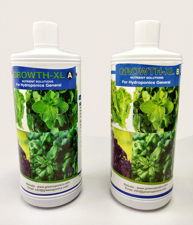 Hydroponic Nutrient Solution For Herbs & Greens - Growth ...